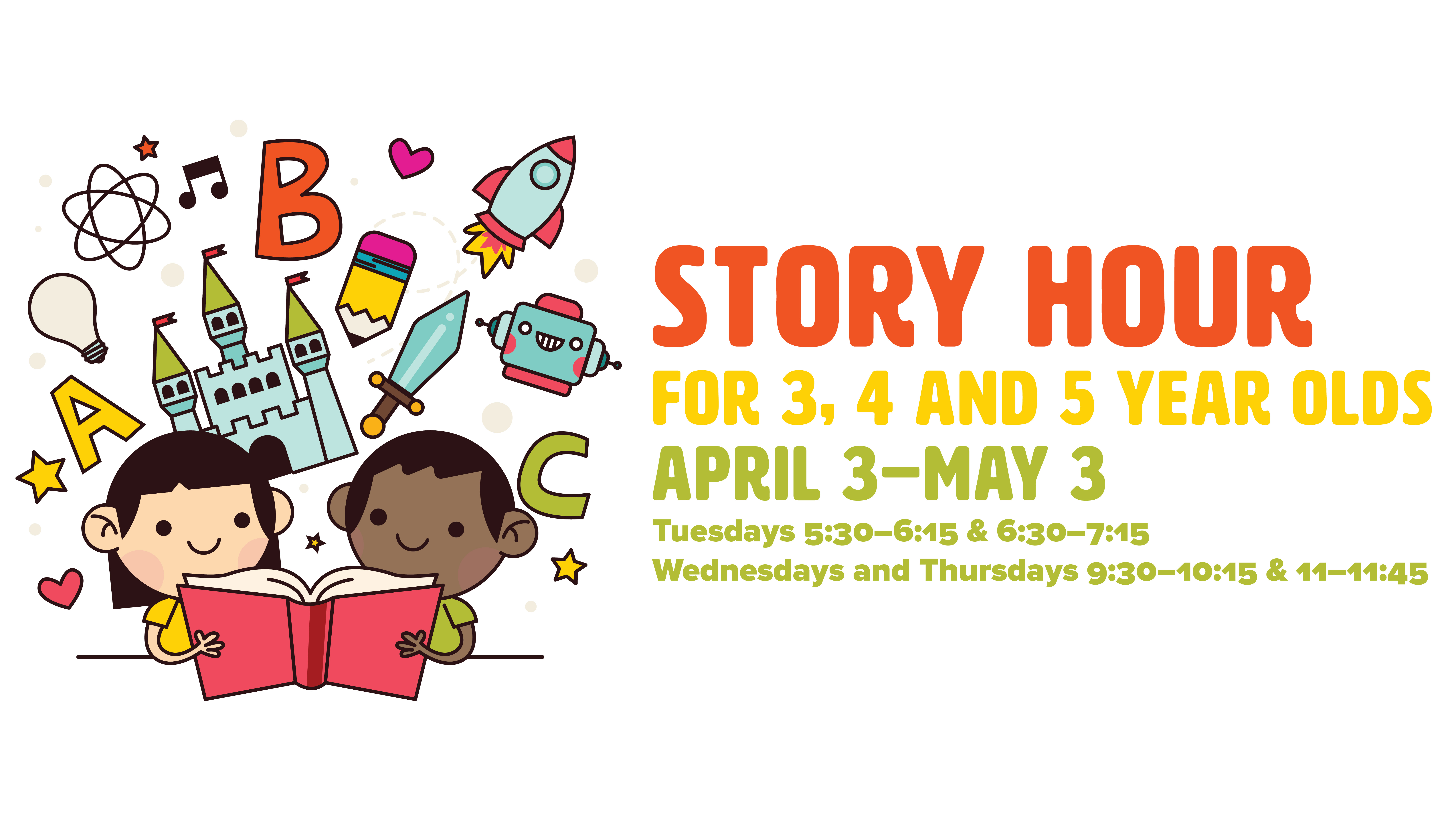 story hour for three, four, and five-year-olds