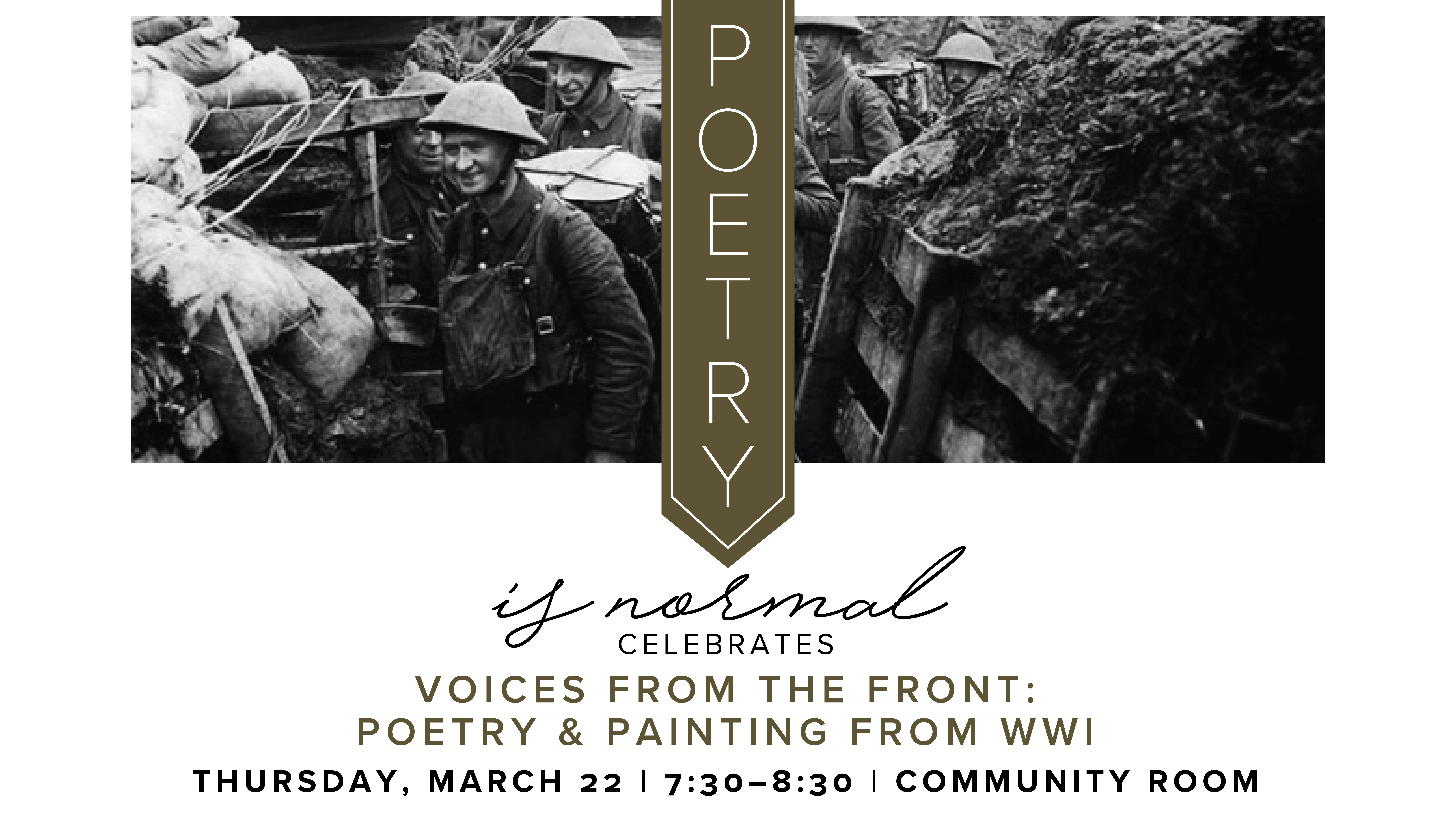 Poetry is Normal Presents: Voices from the Front