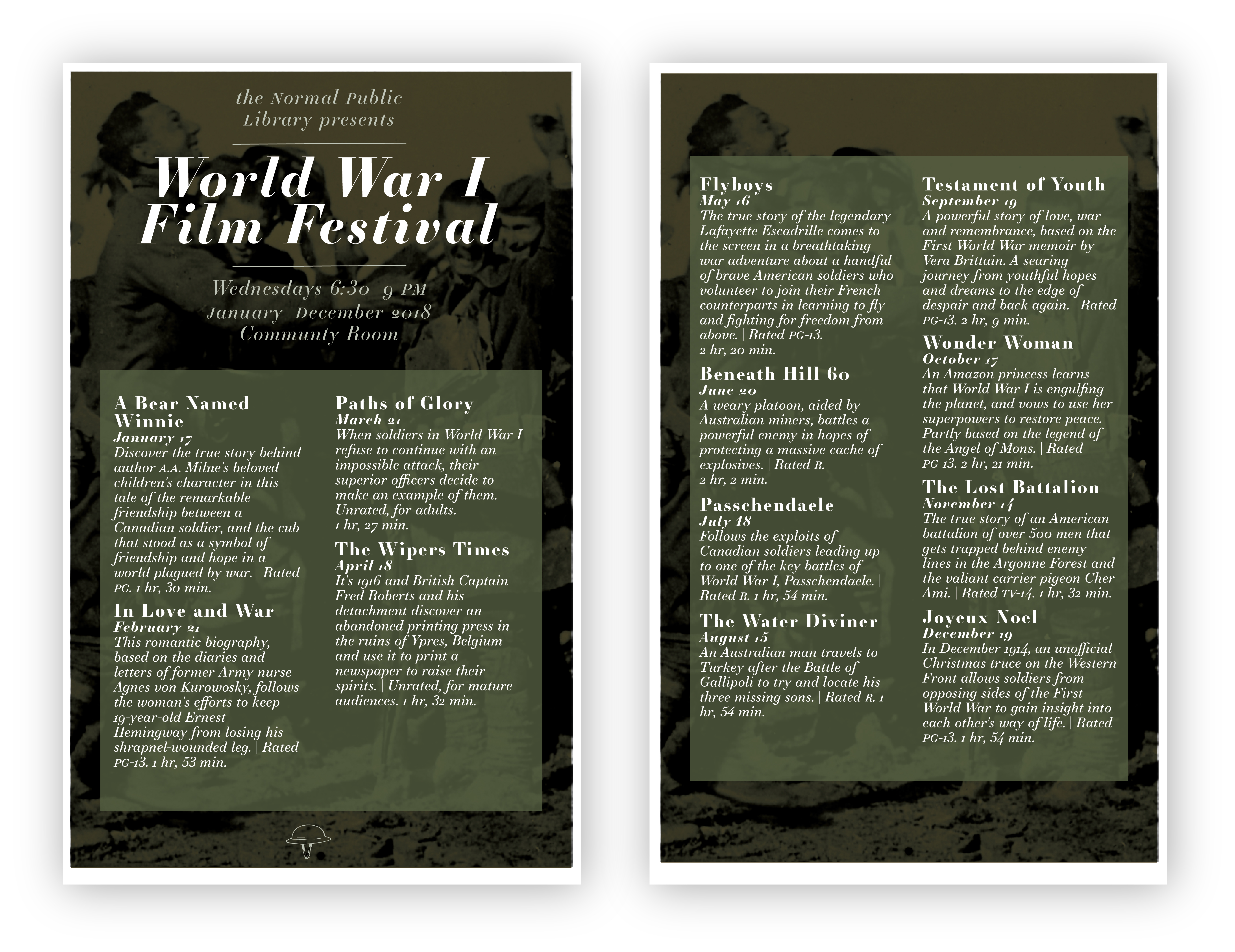 Wwi Film Series Normal Public Library
